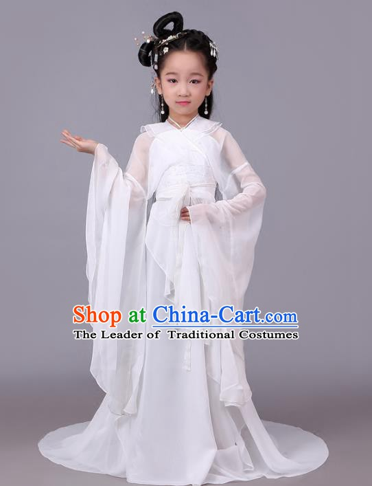 Traditional Chinese Ancient Princess Fairy Costume, China Tang Dynasty Palace Lady Clothing for Kids
