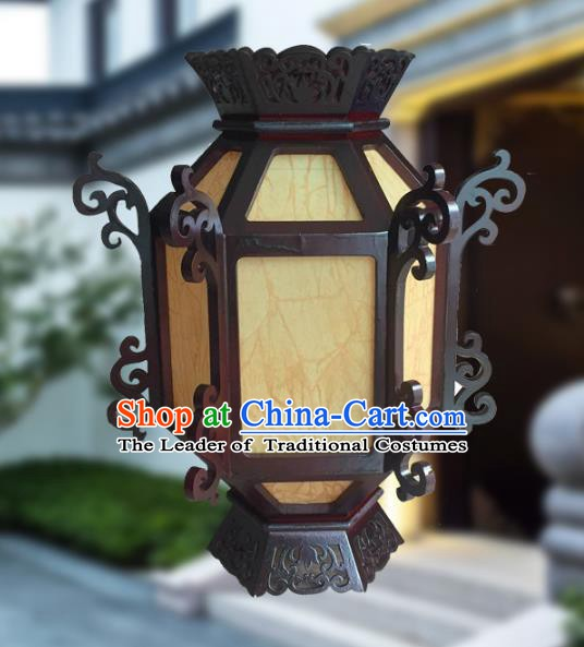 Traditional Chinese Handmade Sheepskin Lantern Classical Wood Palace Lantern China Ceiling Palace Lamp