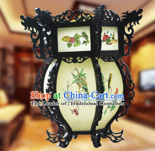 Traditional Chinese Handmade Sheepskin Ceiling Lantern Classical Hexagon Chrysanthemum Palace Lantern China Palace Lamp