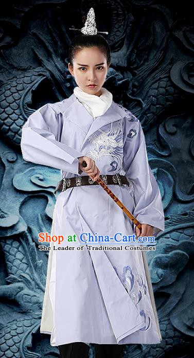 Traditional Chinese Tang Dynasty Swordsman Costume Ancient Imperial Bodyguard Embroidered Clothing for Women