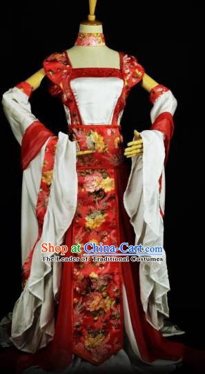 Traditional Chinese Ancient Young Lady Hanfu Costume Han Dynasty Swordswoman Clothing for Women