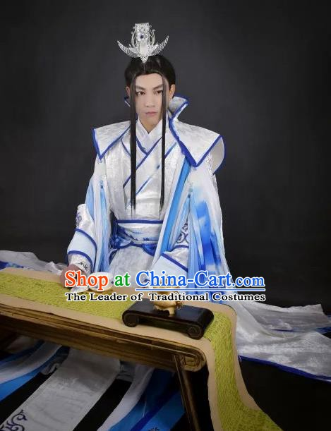 Traditional Chinese Ancient Royal Highness Costume, China Han Dynasty Swordsman Clothing for Men