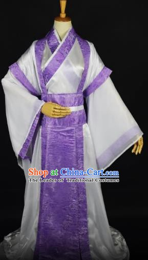 Traditional Chinese Ancient Swordsman Costume, China Han Dynasty Nobility Childe Clothing for Men