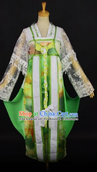 Traditional Chinese Ancient Peri Costume Han Dynasty Nobility Lady Clothing for Women