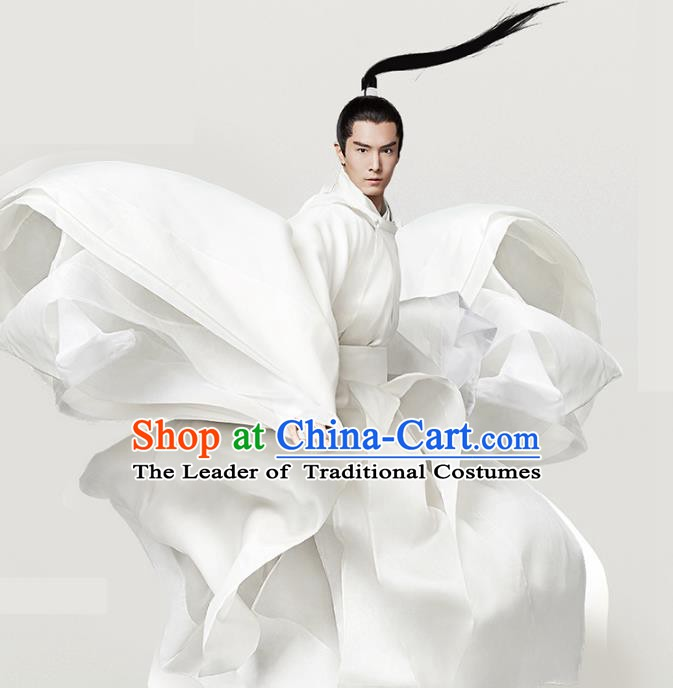 Traditional Chinese Song Dynasty Nobility Childe Costume Ancient Swordsman Clothing for Men