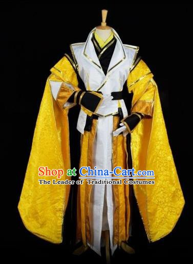 Traditional Chinese Ancient Swordsman Embroidered Costume Tang Dynasty Prince Clothing for Men