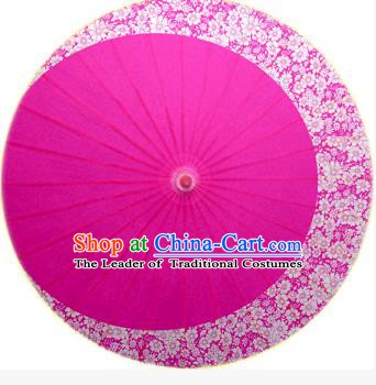 Asian China Dance Umbrella Stage Performance Umbrella Handmade Printing Flower Rosy Oil-paper Umbrellas