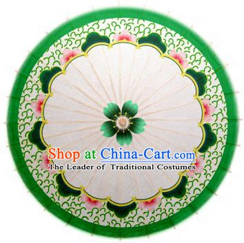 Handmade China Traditional Dance Wedding Umbrella Green Oil-paper Umbrella Stage Performance Props Umbrellas