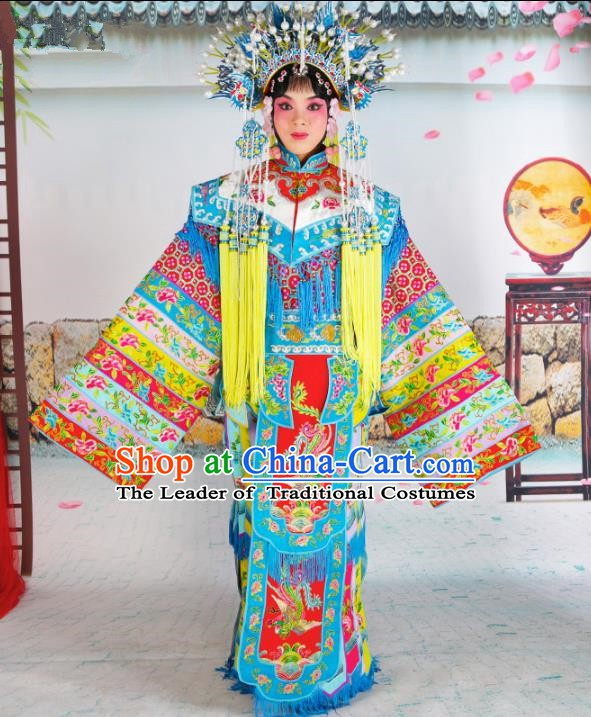 Chinese Beijing Opera Imperial Empress Embroidered Costume, China Peking Opera Actress Embroidery Clothing