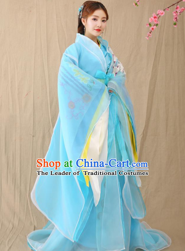223e1703d4a0 Traditional Chinese Ancient Palace Lady Fairy Costume, China Han Dynasty  Imperial Consort Hanfu Clothing for Women