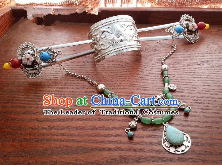 Traditional Handmade Chinese Ancient Classical Hair Accessories Palace Princess Frontlet Hairpins for Women