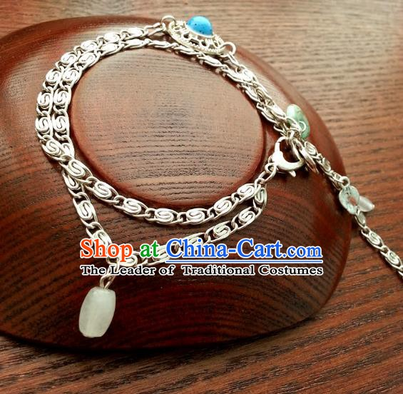Traditional Handmade Chinese Ancient Classical Accessories Bracelets Tassel Chain Bracelet for Women