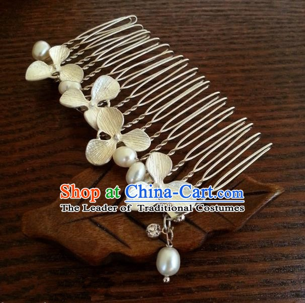Traditional Handmade Chinese Ancient Classical Hair Accessories Hairpins Flowers Hair Comb for Women