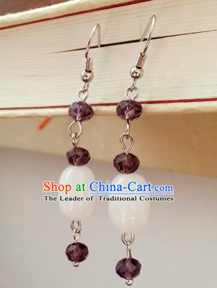 Traditional Chinese Handmade Eardrop Ancient Palace Lady Princess Hanfu Classical Earrings for Women
