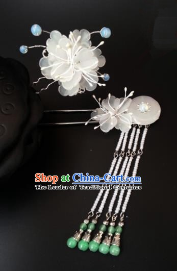 Handmade Traditional Chinese Classical Hair Accessories Ancient Bride Hanfu Step Shake Hairpins for Women
