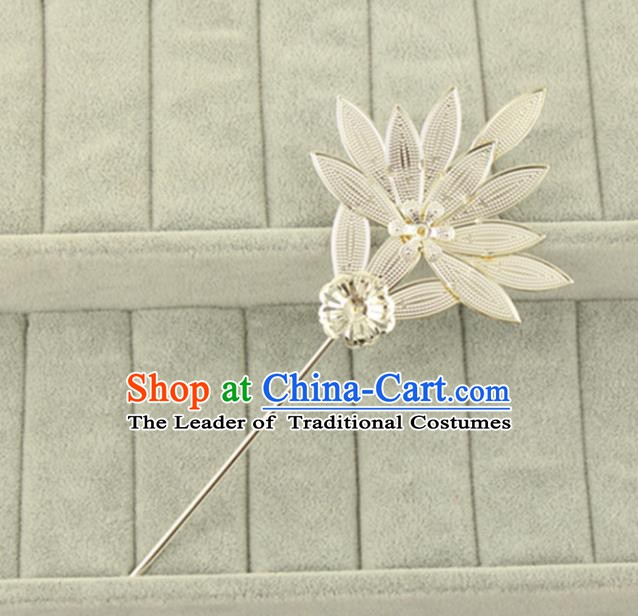 Asian Chinese Handmade Classical Hair Accessories Princess Hairpins Sliver Hair Stick for Women