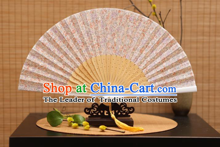 Traditional Chinese Crafts Printing Folding Fan, China Beijing Opera Silk Fans for Women