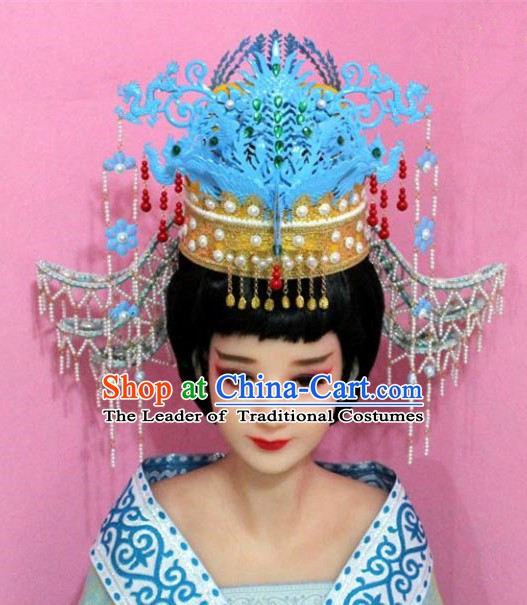 Traditional Chinese Handmade Ming Dynasty Empress Hair Accessories Ancient Queen Hairpins Tassel Phoenix Coronet for Women