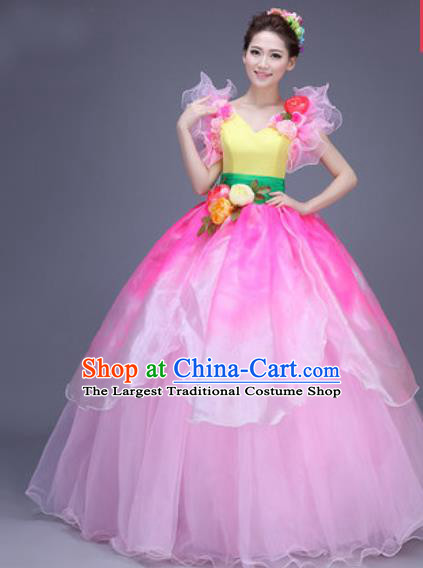 Top Grade Modern Dance Chorus Dress Professional Opening Dance Stage Performance Costume for Women