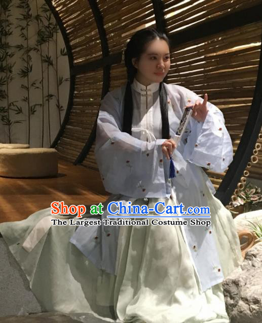 Chinese Traditional Ming Dynasty Nobility Lady Costumes Ancient Hanfu Dress for Women
