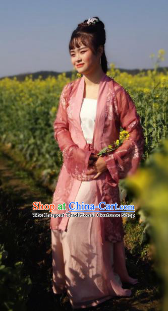 Chinese Traditional Song Dynasty Nobility Lady Costumes Ancient Maidenform Hanfu Dress for Women
