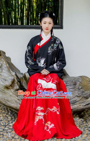 Chinese Traditional Ming Dynasty Palace Lady Costumes Ancient Maidenform Hanfu Dress for Women
