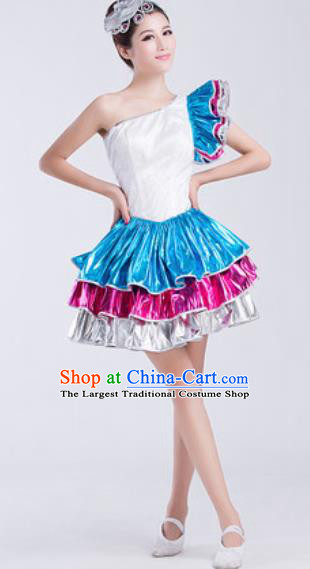 Top Grade Modern Dance Chorus Costume Stage Performance Short Bubble Dress for Women