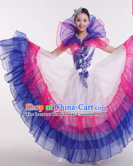 Top Grade Modern Dance Costume Ballroom Waltz Stage Performance Chorus Dress for Women