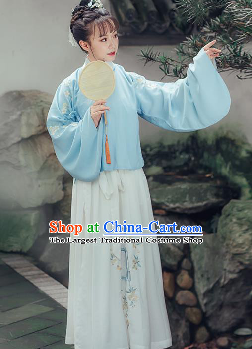 Chinese Traditional Ancient Embroidered Costumes Ming Dynasty Nobility Lady Hanfu Dress for Women