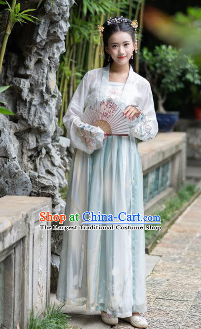 Chinese Ancient Tang Dynasty Nobility Lady Embroidered Costumes for Rich