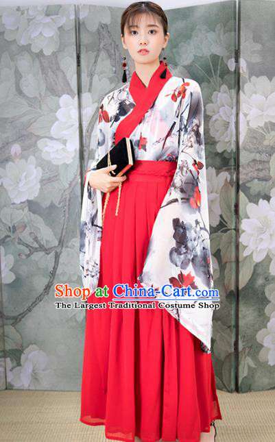 Chinese Ancient Jin Dynasty Nobility Lady Costumes Hanfu Dress for Rich