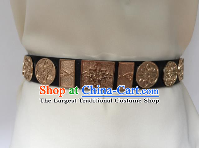 Chinese Ancient Swordsman Belts Tang Dynasty Imperial Bodyguard Waistband for Men
