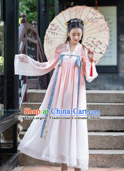 Ancient Chinese Tang Dynasty Princess Hanfu Dress Historical Costume for Women