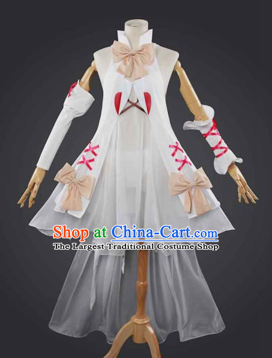 Chinese Traditional Cosplay Costumes Ancient Swordswoman White Dress for Women