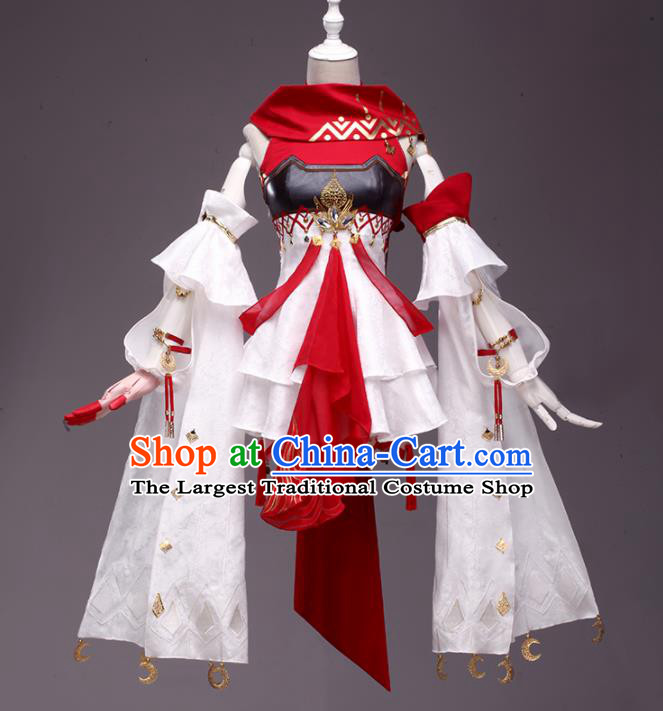 Chinese Traditional Cosplay Young Lady Costumes Ancient Swordswoman Dress for Women