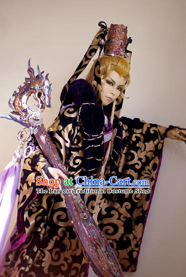 Top Grade Chinese Ancient Cosplay Swordsman Costumes for Men