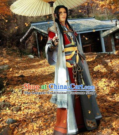 Top Grade Cosplay Chinese Ancient Swordsman Halloween Costumes for Men