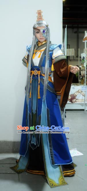 Top Grade Cosplay Chinese Ancient Swordsman Nobility Childe Costumes for Men