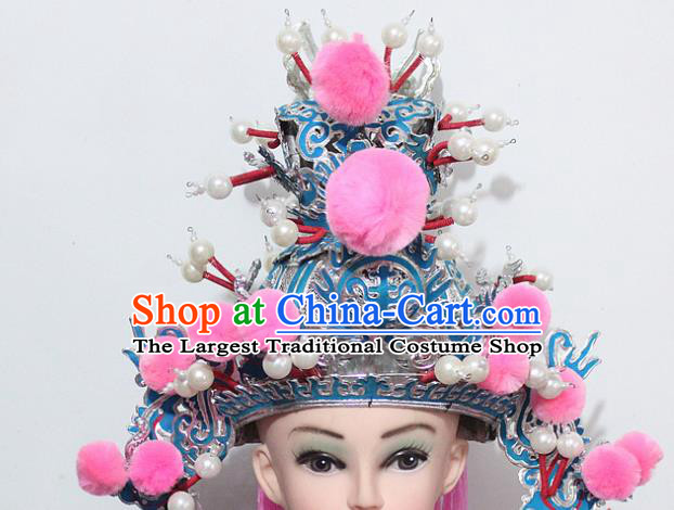 Chinese Traditional Peking Opera Niche Hats Ancient Crown Prince Helmet for Men