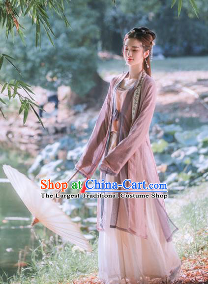 Chinese Ancient Song Dynasty Nobility Lady Hanfu Dress Traditional Embroidered Costumes for Women