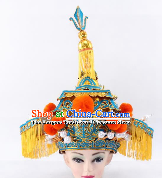Chinese Traditional Peking Opera Takefu Helmet Ancient Prime Minister Hat for Men