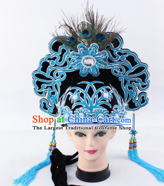 Chinese Traditional Peking Opera Niche Headwear Ancient Gifted Scholar Black Hat for Men
