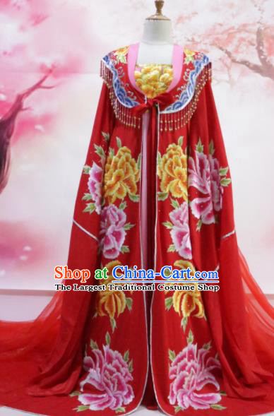 Chinese Traditional Embroidered Wedding Costume Ancient Tang Dynasty Imperial Consort Hanfu Dress for Women