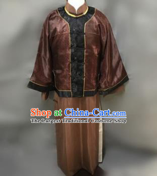 Chinese Ancient Qing Dynasty Nobility Childe Costumes Mandarin Jacket for Men