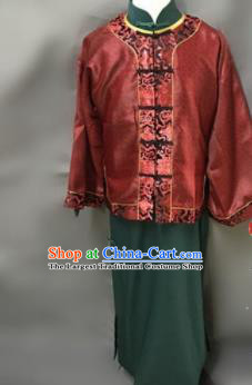 Chinese Ancient Qing Dynasty Nobility Childe Costumes Red Mandarin Jacket for Men