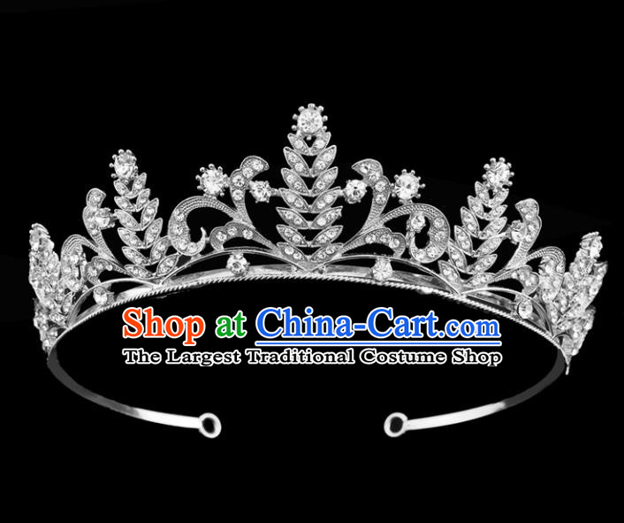 Top Grade Baroque Court Princess Argent Hair Clasp Bride Wedding Hair Jewelry Accessories for Women