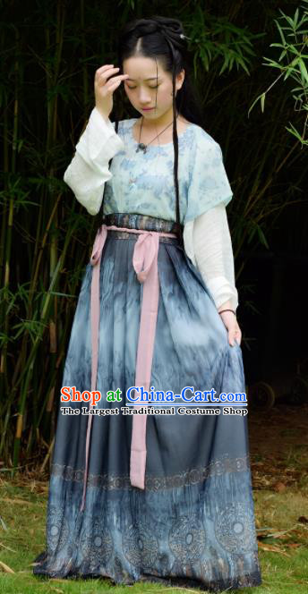 Traditional Chinese Ancient Tang Dynasty Nobility Lady Costume Embroidered Hanfu Dress for Rich Women