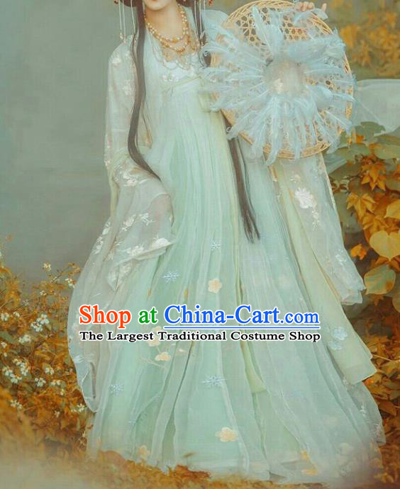Chinese Tang Dynasty Palace Princess Costumes Ancient Fairy Peri Hanfu Dress for Women
