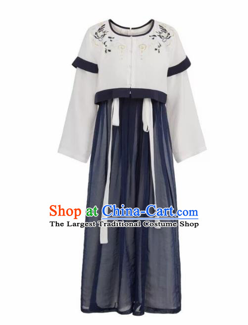 Chinese Tang Dynasty Palace Lady Costumes Ancient Las Meninas Hanfu Dress for Women
