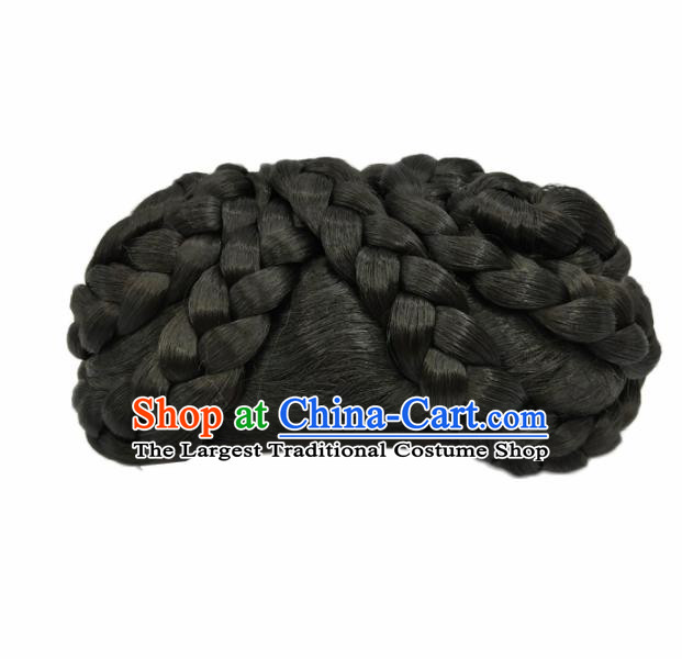 Chinese Ancient Qing Dynasty Hair Accessories Manchu Imperial Consort Chignon Wigs for Women